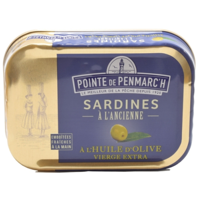 SARDINES À L'HUILE D'OLIVE VIERGE EXTRA 135g