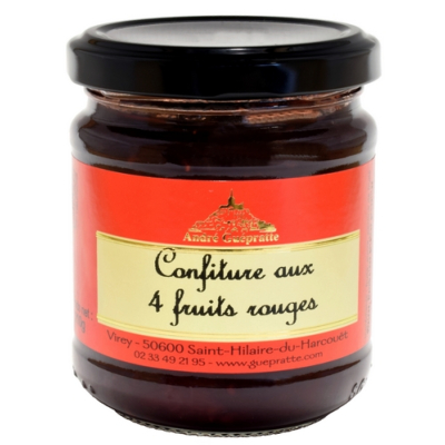 CONFITURE AUX 4 FRUITS ROUGES 210g
